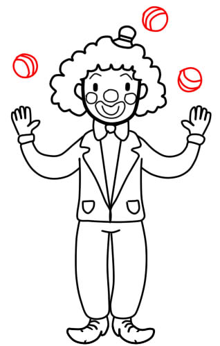 как нарисовать клоуна шаг 8