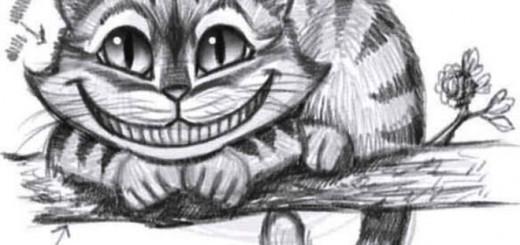 как нарисовать чеширского кота шаг 8