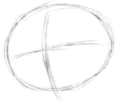 как нарисовать анжелу шаг 1