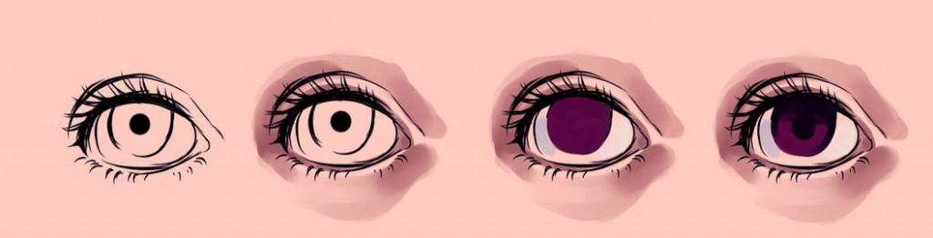 нарисовать глаза в SAI