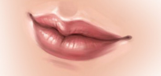 как нарисовать губы в sai