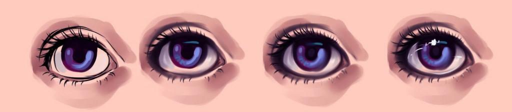 нарисовать глаза в SAI 2