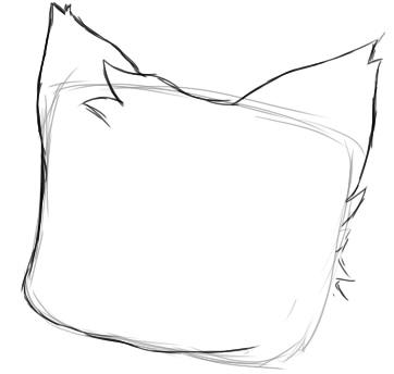 как нарисовать няшку шаг 2