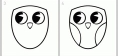 как нарисовать сову легко этап 2