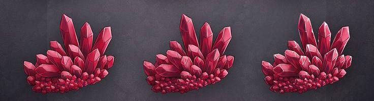 как нарисовать красные кристаллы 3