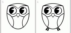 как нарисовать сову легко этап 3