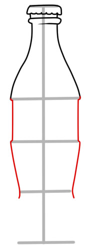 как нарисовать кока колу шаг 3