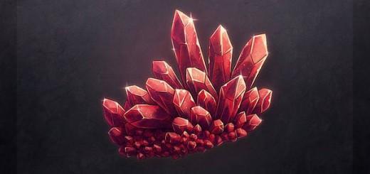 как нарисовать красные кристаллы 4