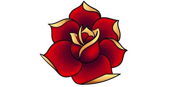 как нарисовать простую розу этап 4