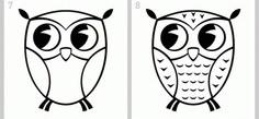 как нарисовать сову легко этап 4