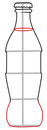 как нарисовать кока колу шаг 5