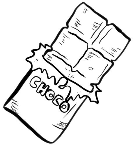 как нарисовать шоколад шаг 5