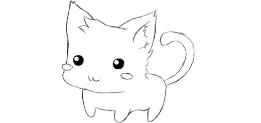 как нарисовать няшку