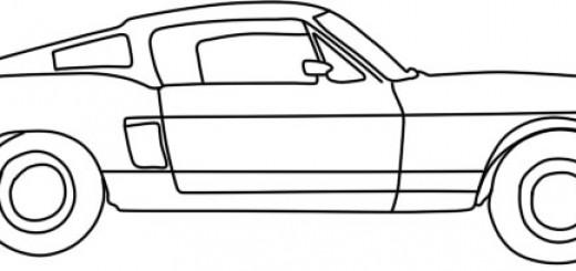 как нарисовать форд мустанг карандашом
