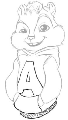 Как нарисовать Элвина поэтапно 8