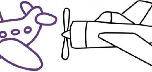 самолеты картинки нарисованные