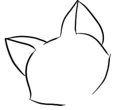 как нарисовать кота с кексом