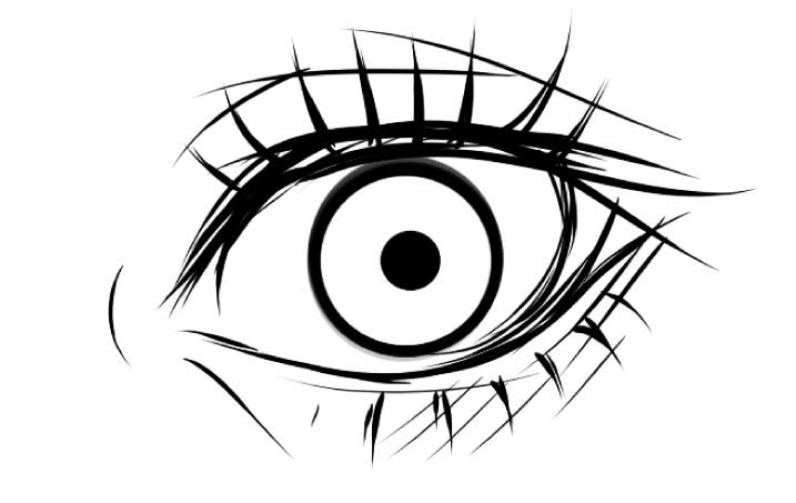 рисуем глаза в SAI шаг 1
