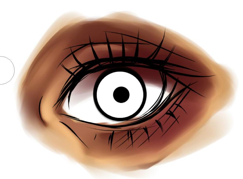 рисуем глаза в SAI шаг 2