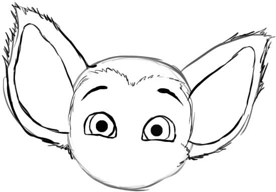 как нарисовать малыша барбоскина