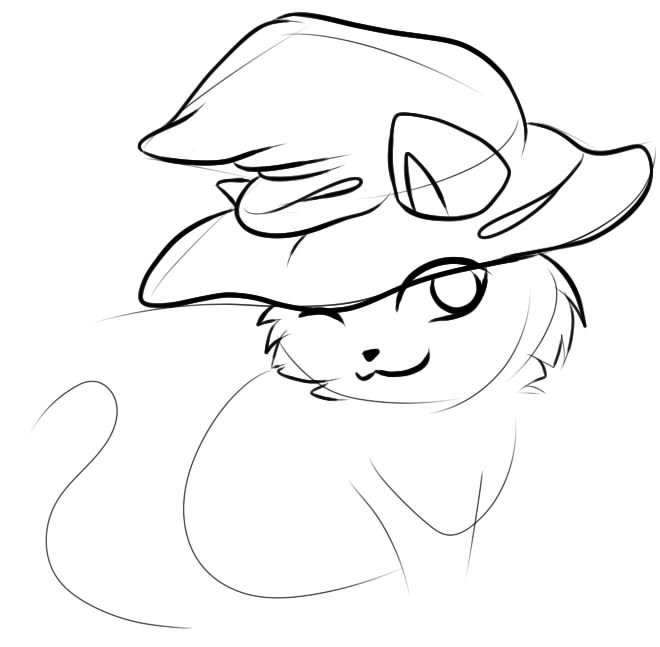 как нарисовать кота волшебника