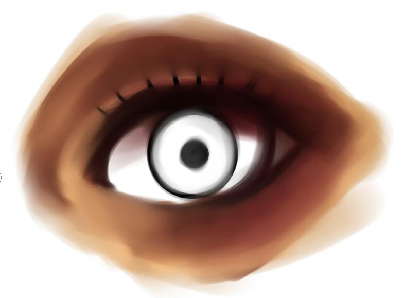 рисуем глаза в SAI шаг 3