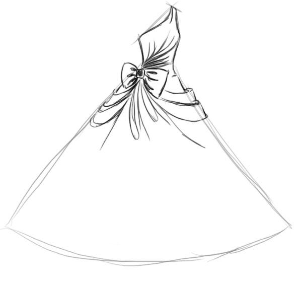 61dbcb27bd2 Как нарисовать пышное бальное платье