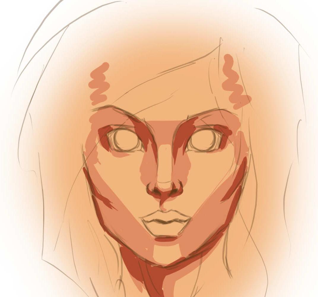 Как рисовать кожу на лице
