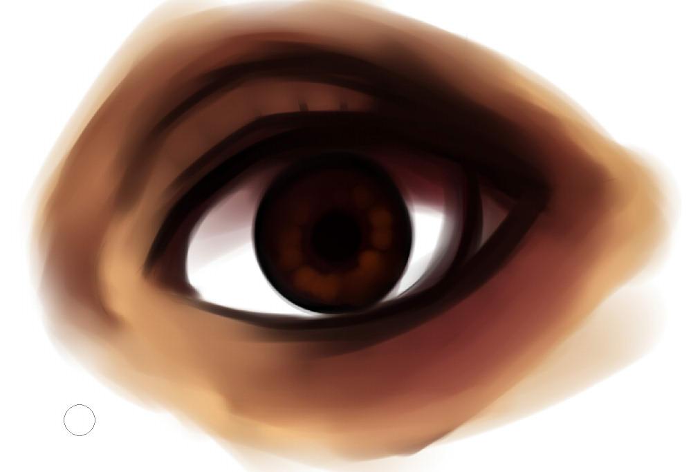 рисуем глаза в SAI шаг 4