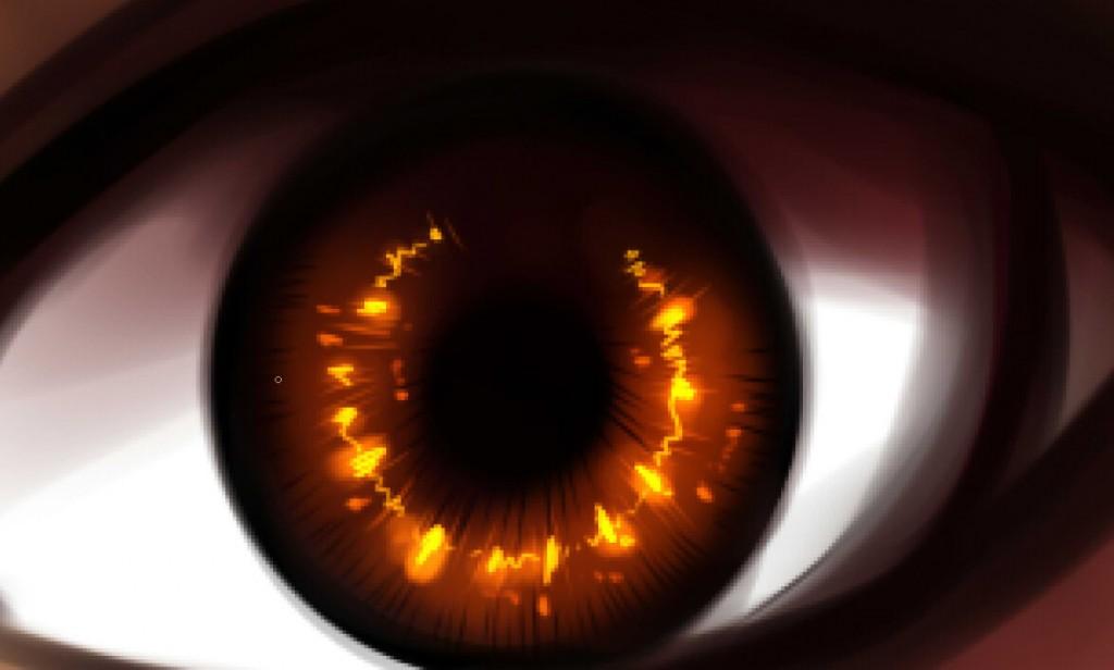 рисуем глаза в SAI шаг 5