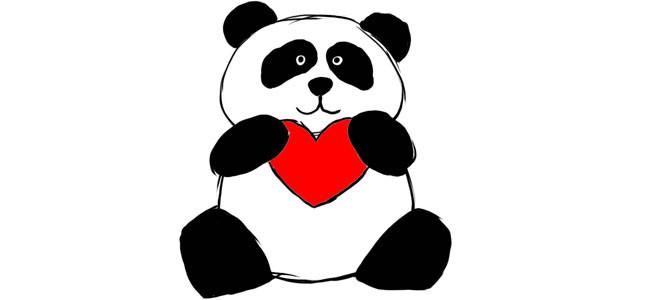 Рисунок карандашом панда
