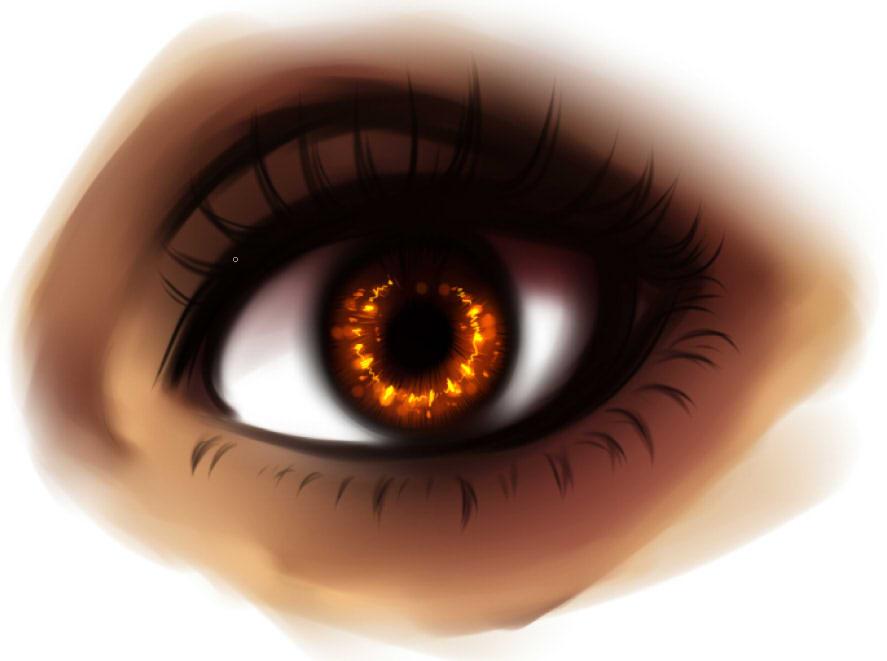рисуем глаза в SAI шаг 6