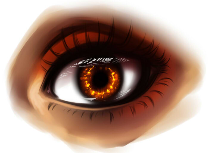 рисуем глаза в SAI шаг 7
