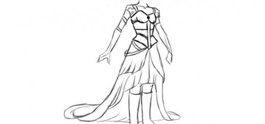 как нарисовать платье стимпанк