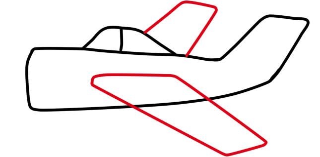 как нарисовать самолет ребенку поэтапно
