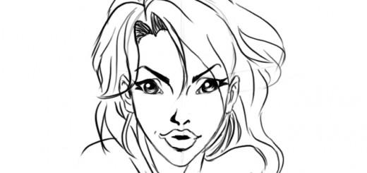 Основы рисования лица девушки