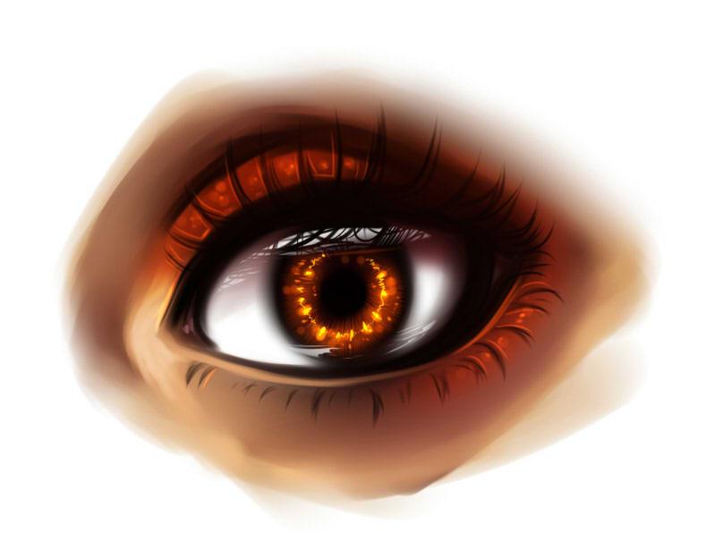 рисуем глаза в SAI шаг 8