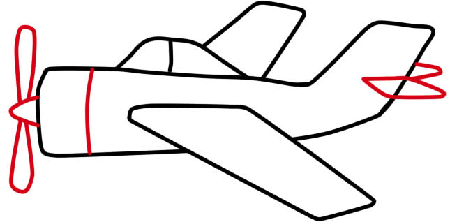 как нарисовать самолет военный поэтапно