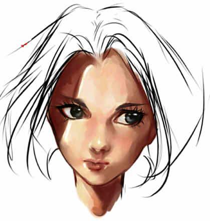нарисовать аниме девушку в SAI