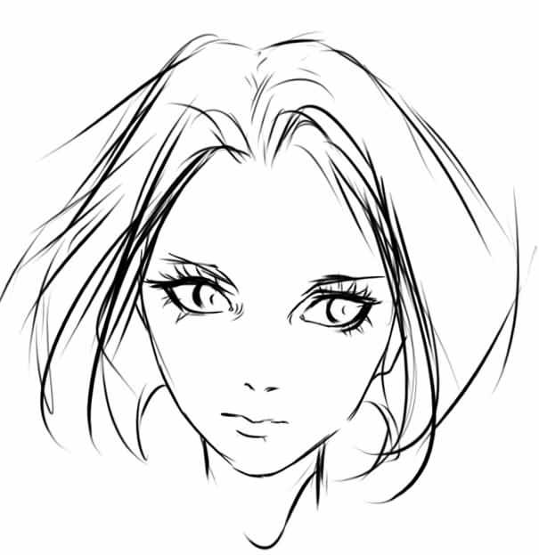 нарисовать лицо девушки в SAI