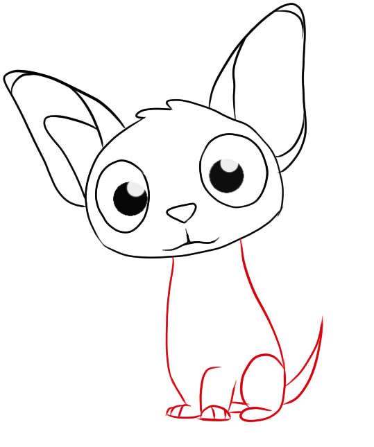 как нарисовать ребенку собаку поэтапно
