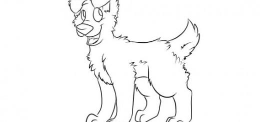 как нарисовать поэтапно собаку