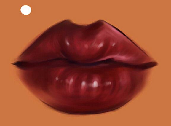 как нарисовать рот девушки