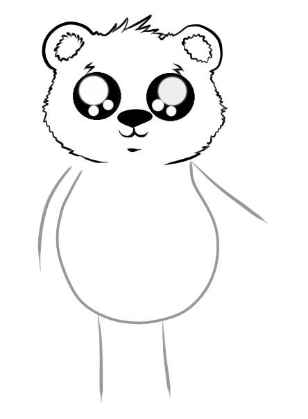 как нарисовать мишку шаг 3