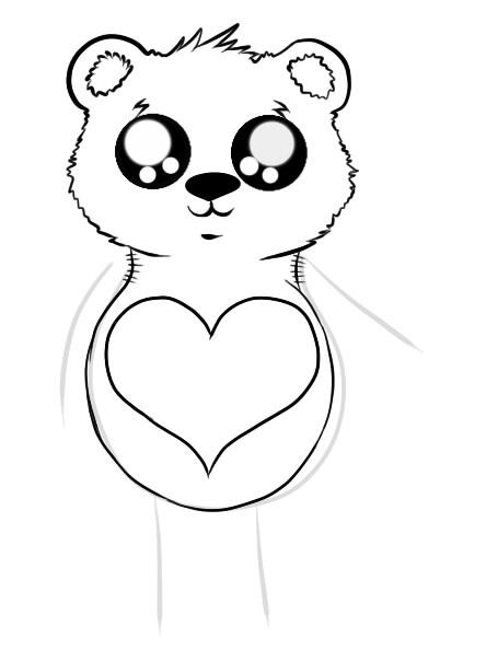 как нарисовать мишку шаг 4