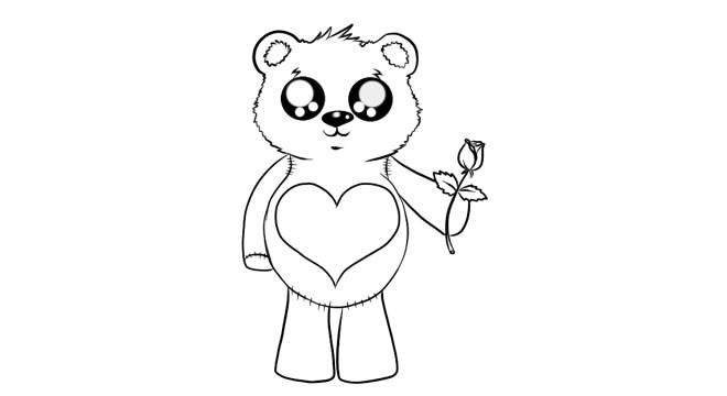 как нарисовать мишку шаг 7