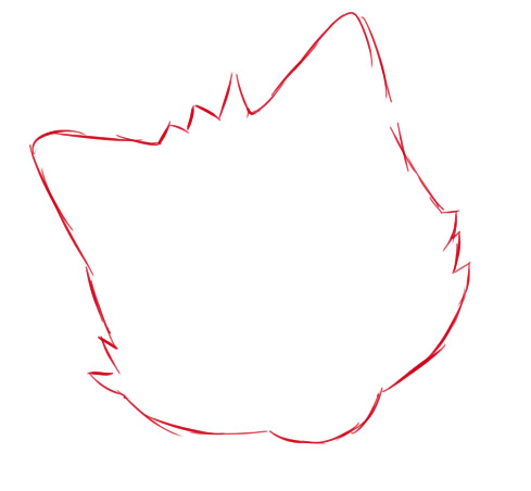 как нарисовать чиби волка