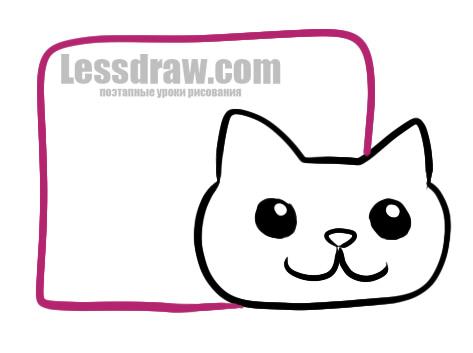 Как нарисовать Нян Кэт легко