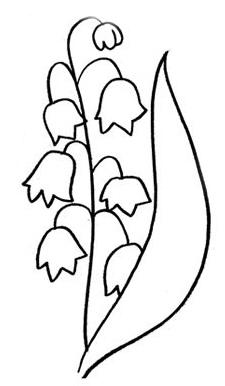 как нарисовать ландыш