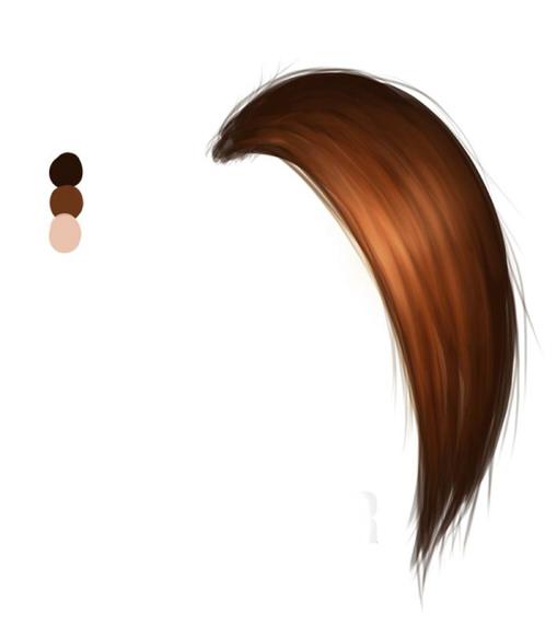 как рисовать волосы в SAI